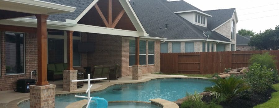 Roof addition for your houston area patio infinite for Gable roof addition