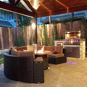 Exceptionnel Outdoor Patio Grill Roof Addition Fire Pit